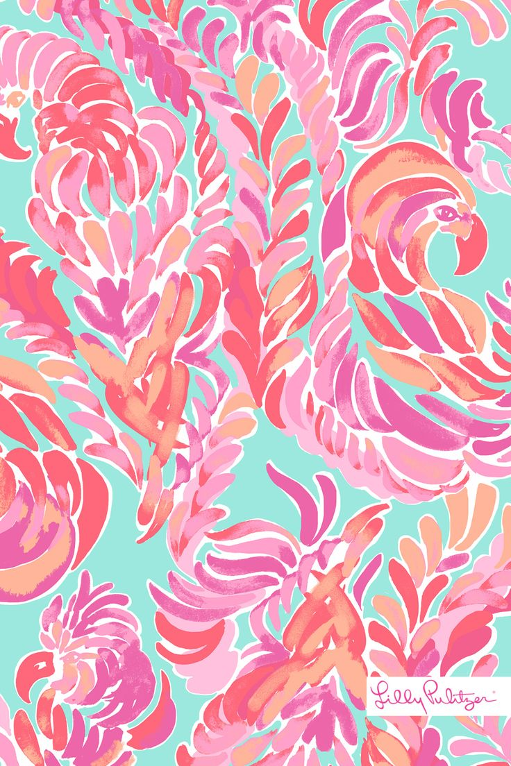 "Lilly Pulitzer ""Love Birds"" Spring 2016Check out the rest of my wallpapers here!"