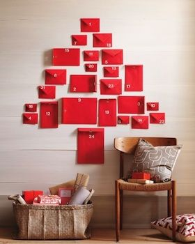 Red Envelope Advent Calendar (apparently by Martha Stewart?)