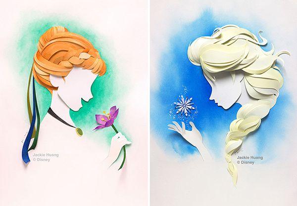 Les personnages de Disney en paper art - Momes.net