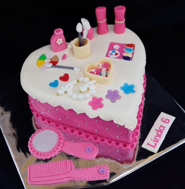 Torty pre dievčatá » Torta Kozmetický kufrík