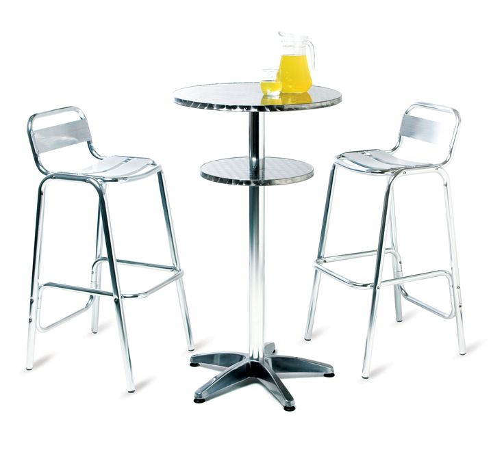 Outdoor dining Aluminium Stool and Table - available to hire from www.d-zinefurniture.co.uk