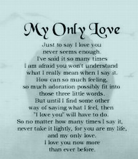 Love Quote,My Only Love | Love Poetry Pictures