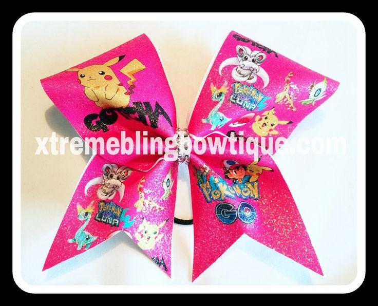 Cheer Bow --Pokemon Pink