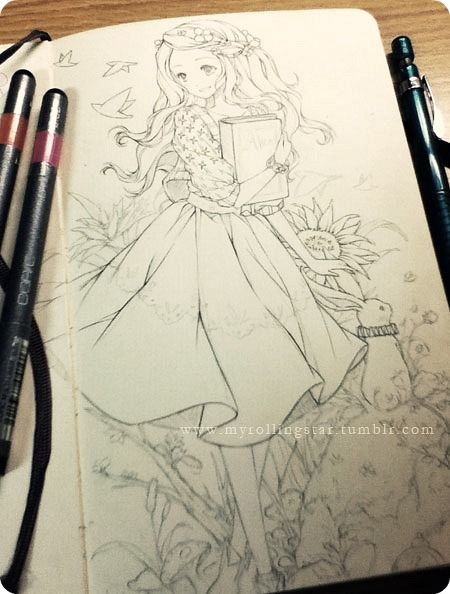 Working on the Alice in Wonderland WIP again. GO GO GO SELF YOU CAN DO IT ९(ेД॔)७
