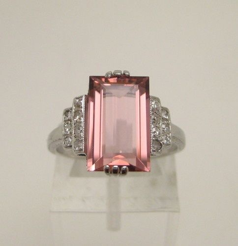 Antique Art Deco Pink Ring