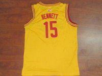 Cleveland Cavaliers NBA Anthony Bennett #15 Yellow Basketball Jersey [F177]