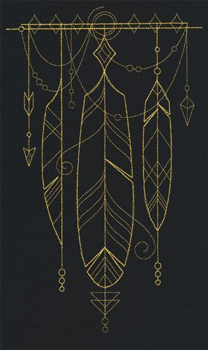 Long believed to contain magical properties ensuring good luck for the possessor, this beautifully draping talisman of feathers can adorn your wardrobe, home decor, and more!