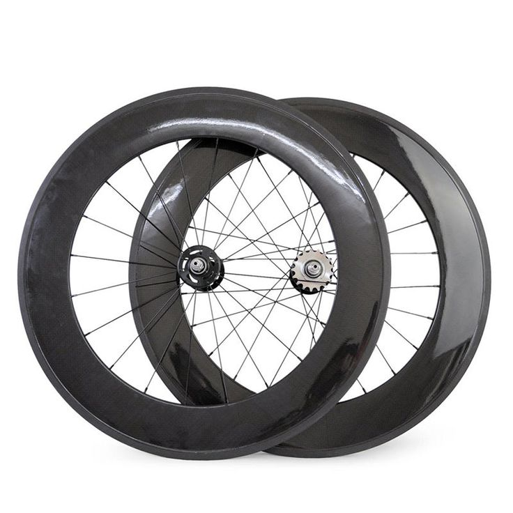 88mm depth Front and Rear Fixed Gear Track Bike Carbon Bicycle Clincher wheelset  | eBay