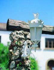 Lampioncino con Braccio in meallo alluminio fuso : Collezione FERNANDINO