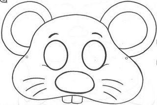 mascaras de animais com moldes_Pesquisa do Baidu