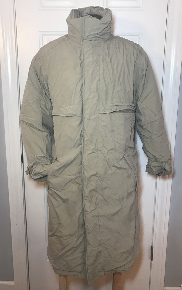 Eddie Bauer Men's Tan Beige Goose Down Jacket Sz M Medium Long Coat Winter    eBay