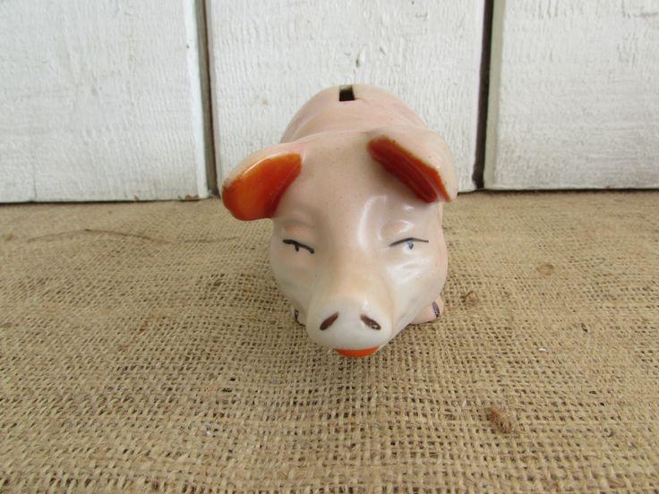 Piggy Bank Made in Japan, Vintage Piggy Bank, Vintage Pig Piggy Bank, Piggy Banks, Vintage Banks, Collectible Piggy Banks, Made in Japan by OpenTwentyFourSeven on Etsy