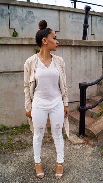 Cute U0026 Casual | Pin Up Girls | Pinterest | Urban Fashion White Jeans And Street Styles