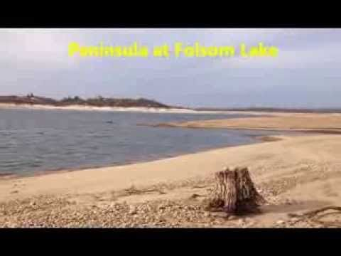 Recording Peninsula at Folsom Lake low lake levels