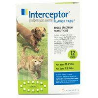 Interceptor Dogs 11-25 lbs (Green) 3 Chews