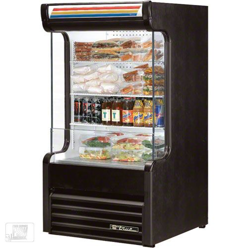 "True (TAC-14GS) - 30"" Glass-Sided Vertical Air Curtain Merchandiser 