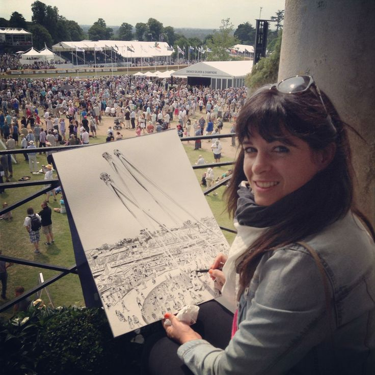 Painting at Goodwood Festival of Speed, 2013