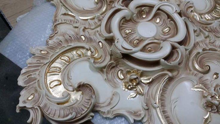 Stucco decorato R 906 A.S.F. gold oro foglia 4