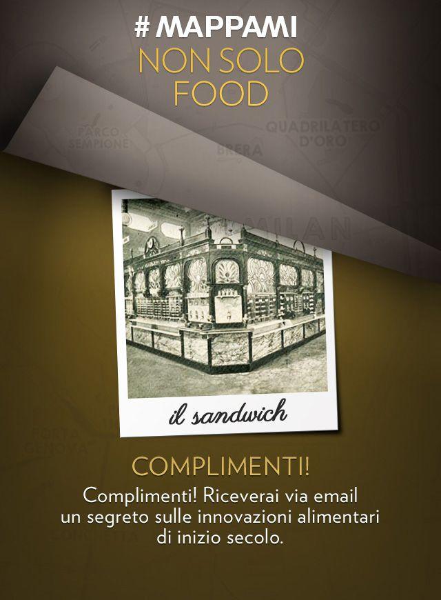 """""""Ognuno si serve da sé"""": ecco la preistoria dei nostri self-service all'interno del Parco dell'Expo del 1906. Il ristorante automatico Perricelli era stato attrezzato per fornire piatti caldi, piatti freddi, vino e birra, caffè, brodi, cioccolata e liquori, ma la specialità erano i sandwich, lo street food del secolo scorso.  L'Expo 1906 si tiene alle spalle del Castello Sforzesco (l'attuale Parco Sempione) e nell'area dove, alcuni anni dopo, viene costruita la Fiera di Milano."""