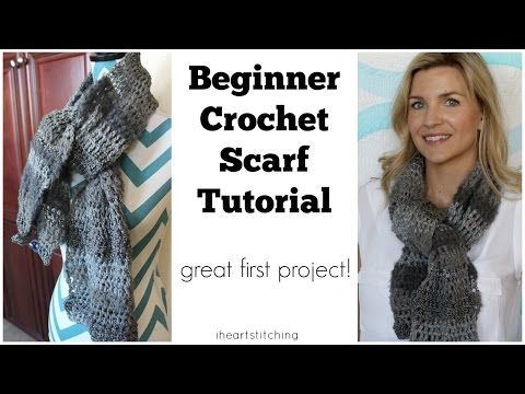 Beginner Crochet Scarf Tutorial - Great! FIRST Project! - YouTube I used this and it is a great tutorial!!