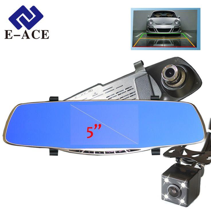 New Full HD 1080 P Kamera Avtoregistrator 5 Inch Kaca Spion Mobil Dvr Digital Video Recorder Dual Lens Camcorder Registrar
