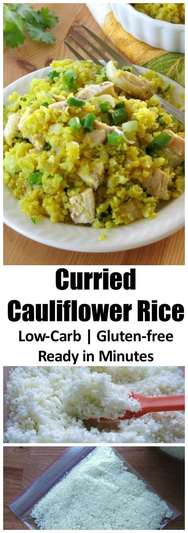 Easy Curried Cauliflower Rice takes less than 15 minutes to prepare and is ready in even less time when you follow our tip for freezing cauliflower rice. Low-carb, gluten-free, vegan and paleo recipe that we make all the time!