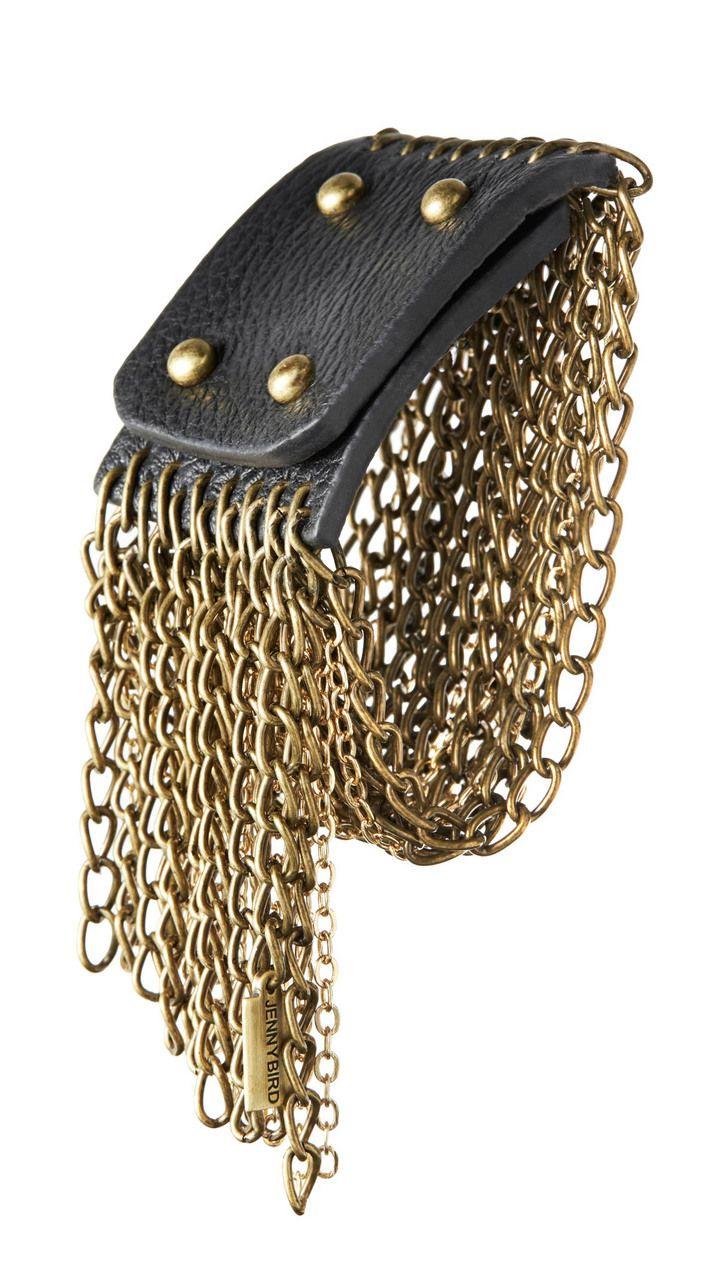 I love this gold chain cuff bracelet!