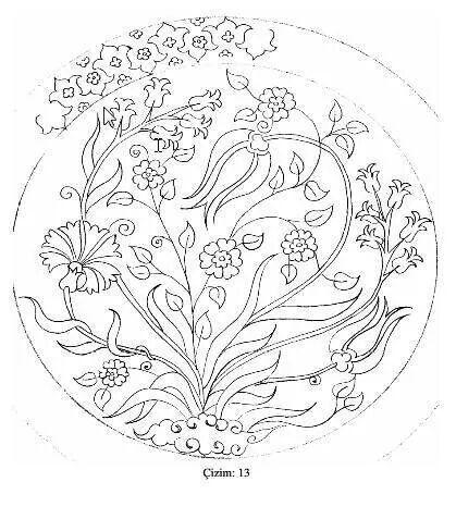 Traditional Ottoman design, carnation, tulip