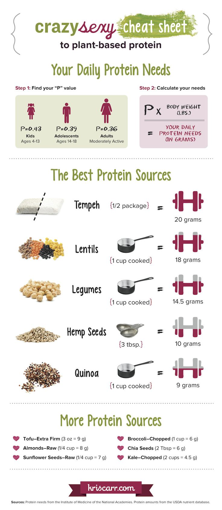 The Best Sources Of Plant-Based Protein (Infographic)