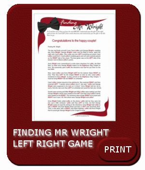 finding mrwright leftright game left right shower game left right games for bride baby etc wedding shower bachelorette party ideas bridal