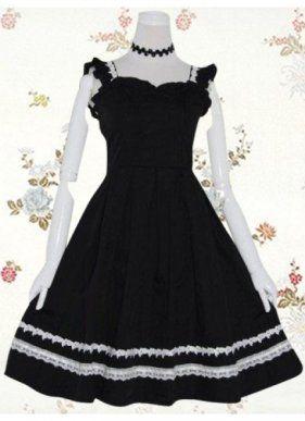 Beautiful Cotton Sleeveless Lace Ruffles Classic Lolita Dress