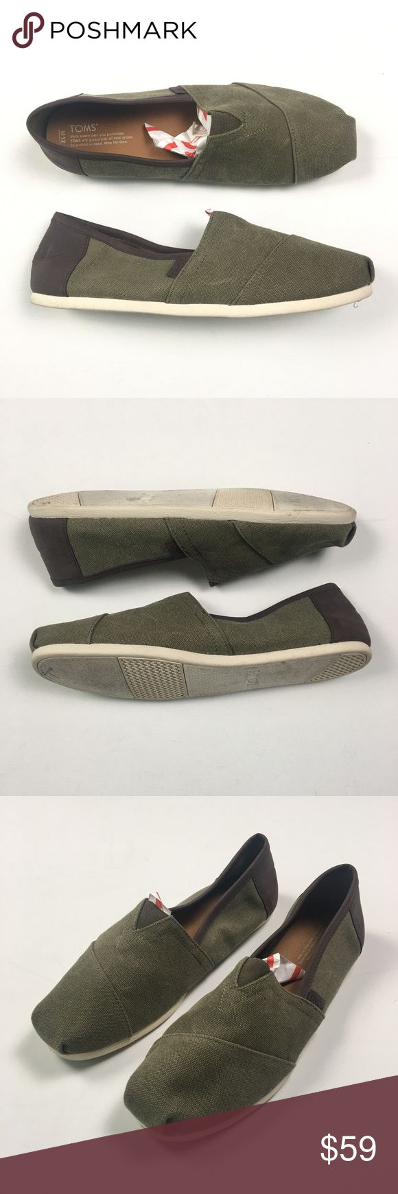 Toms Mens Olive Slip On Size 12 C63 Gently used. Toms Shoes Loafers & Slip-Ons