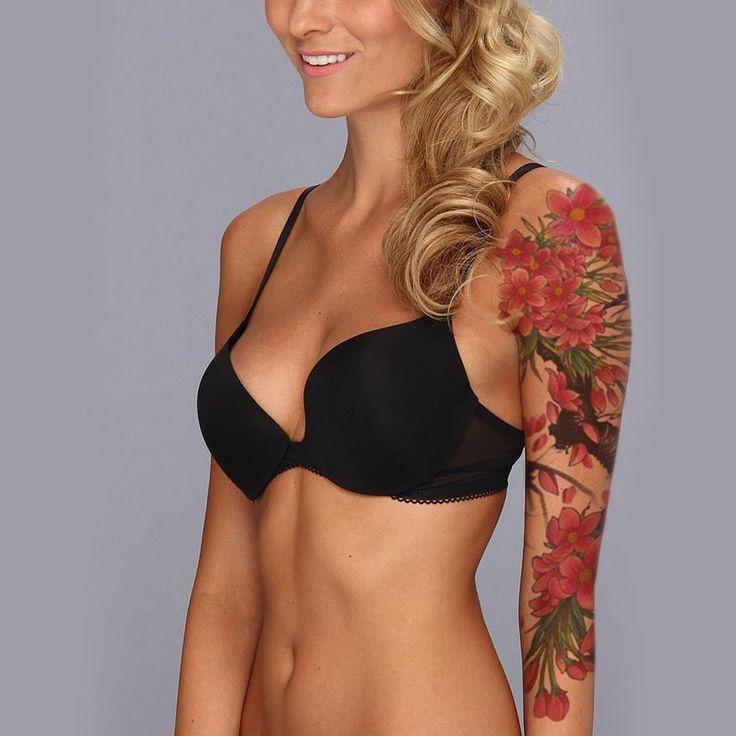 Les 25 meilleures id es concernant tatouage de manches d 39 arbre sur pinterest tatouage for t - Manchette tatouage femme ...