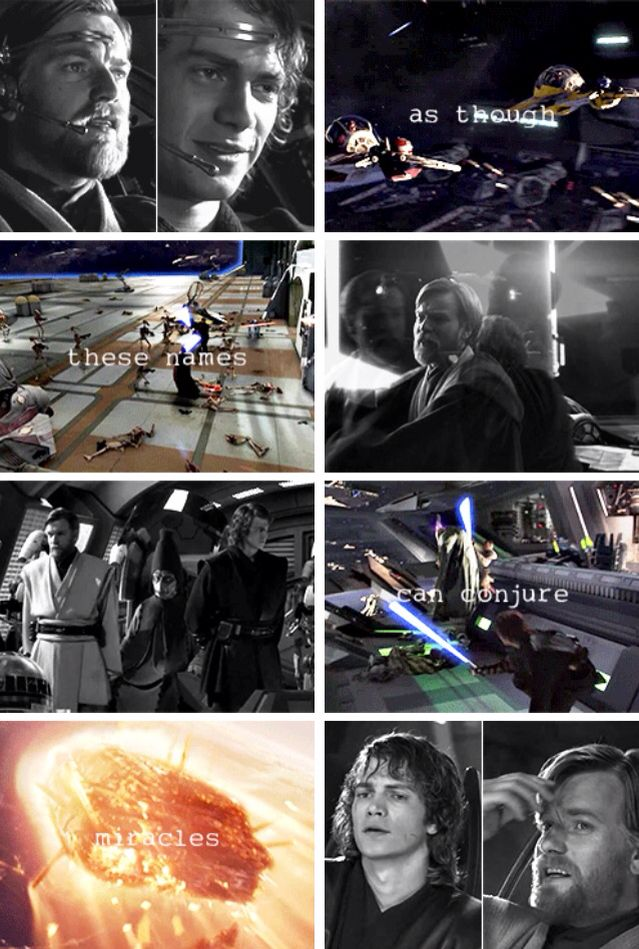 As though these names can conjure miracles - Anakin & Obi-Wan: Clone Wars heroes - Star Wars Episode III: Revenge of the Sith