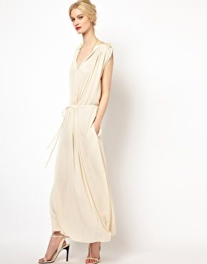 See by Chloe Maxi Dress with Frill Shoulder Detail