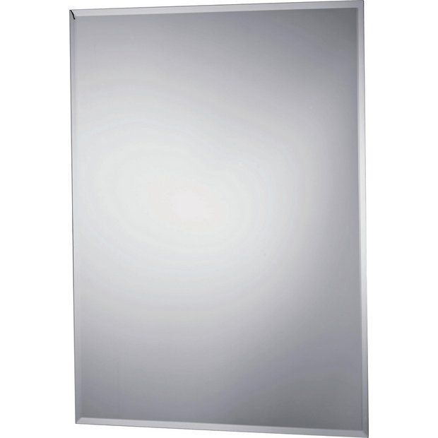 Home Rectangular Bathroom Mirror With Shaver Point Rectangular