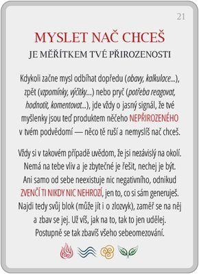 Portál pro osobní rozvoj změnou podvědomí a vlastní přitažlivosti: Člověče, poznej se — 21/24: Myslet nač chceš