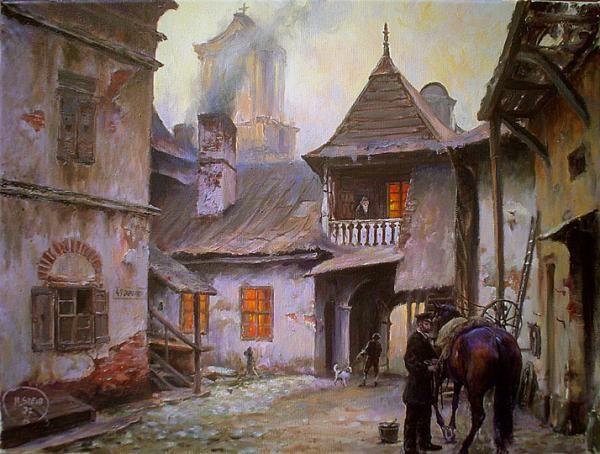 PODWÓRKO NA KRAKOWSKIM KAZIMIERZU III - Kraków obraz