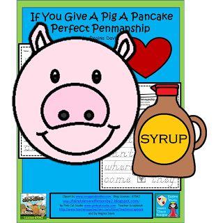 FREEBIE:  If You Give A Pig A Pancake  Handwriting Sheet:Kindergarten Sight Words fairytalesandfictionby2.blogspot.com