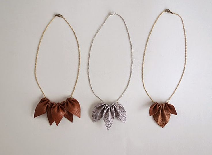 Ohoh Blog - diy and crafts: Leather necklace