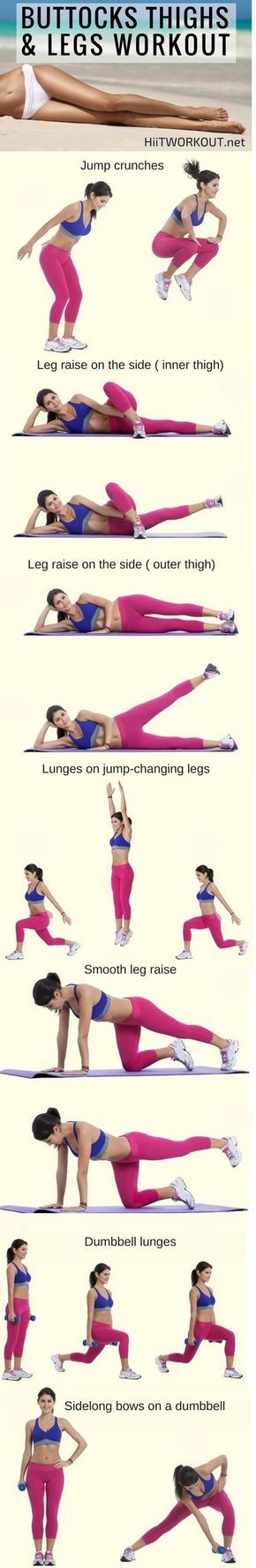 This 7 simple exercises that will give you slender legs in almost no time. Try to do at least 30 repps of each set.