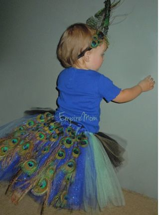 toddlers+homeade+peacock+costume | DIY Halloween Costume Idea: Baby Peacock | The Bump Blog – Pregnancy ...