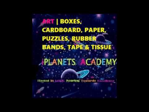 ART | BOXES, CARDBOARD, PAPER, PUZZLES, RUBBER BANDS, TAPE & TISSUE for learning at iPlanets Academy.  ART | Cajas de cartón , papel, rompecabezas, bandas elásticas, Cinta y tejido para el aprendizaje en iPlanets Academia  Connect with me here: www.iPlanetsAcademy.com www.Facebook.com/iPlanetsAcademy www.Twitter.com/iPlanetsAcademy www.Linkedin.com/IN/iPlanetsAcademy www.Google.com/+iPlanetsAcademySchool  Subscribe Here: https://youtu.be/Aczng3g0vWQ