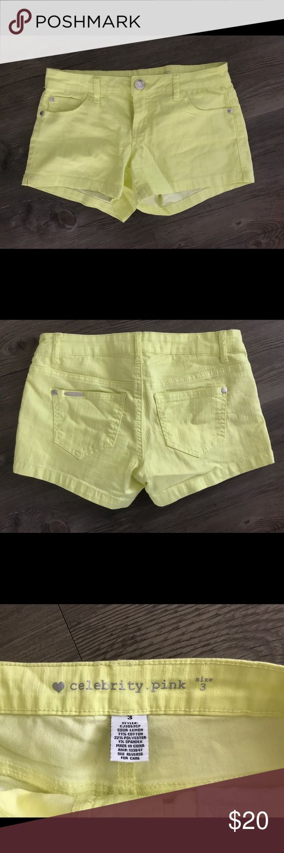 Neon yellow shorts Bright yellow shorts. Never worn but without tags.  From a smoke free home Celebrity Pink Shorts