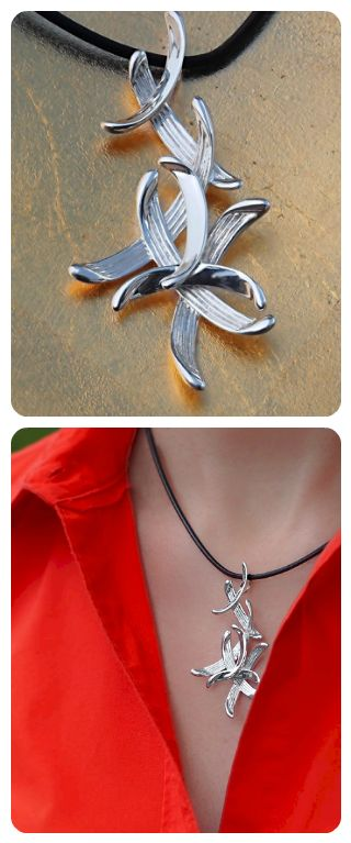 Sterling Silver Necklace || Contemporary Modern Desing
