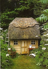 cottage. Thatched Roof, Dreams, Little House, Little Cabin, Playhouses, Tiny Cottages, Thatched Cottage, Little Cottages, Gardens Cottages