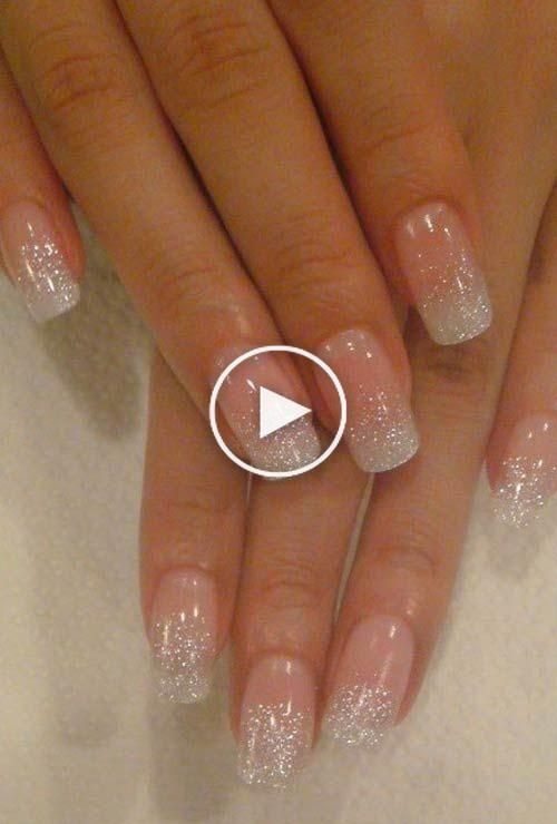 Glitter Nail Art Ideas Step By Step Tutorials For Glitter Nail Designs In 2020 Nails Nail Designs Glitter Simple Nails
