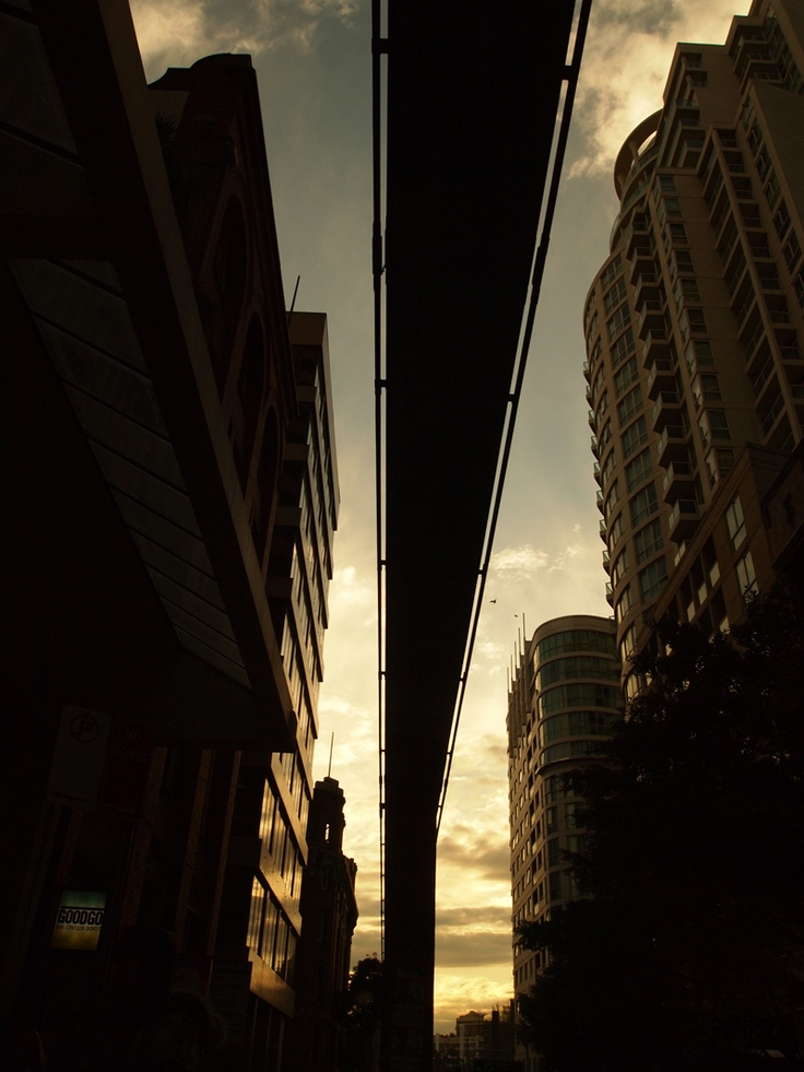 Right under the Monorail, Sydney.