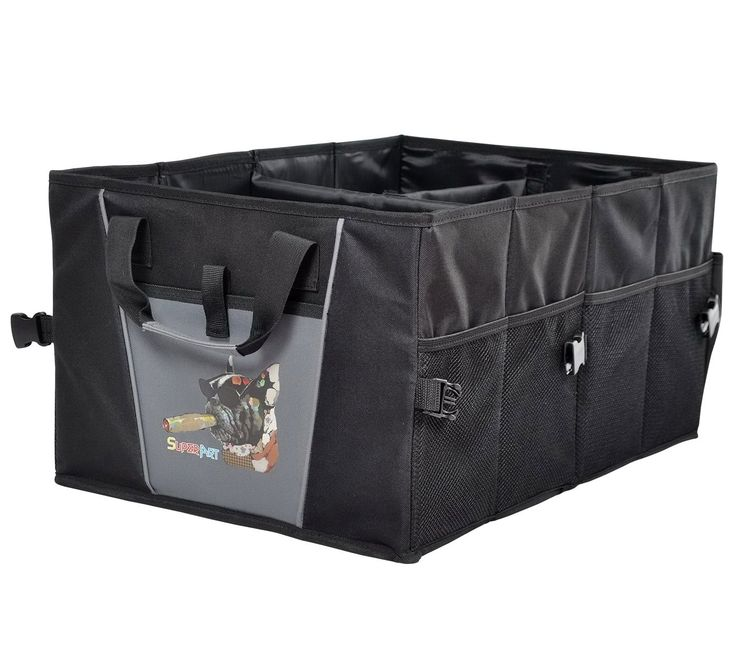 Car Trunk Organizer with Dog Design Waterproof Oxford Shopping Tidy Foldable Large Storage Bag Boxs Cargo Tool Container
