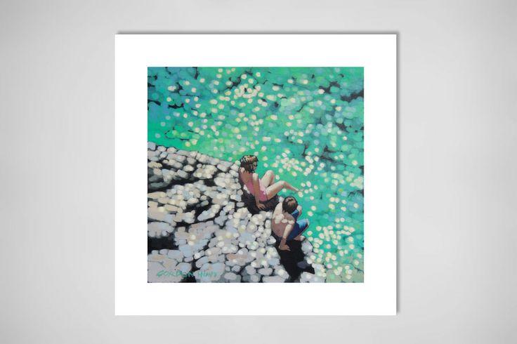 "Saatchi Online Artist: Gordon Hunt; Acrylic 2013 Painting ""Toe in the water"""